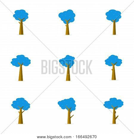 Illustration of tree set decoration collection stock