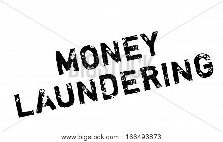 Money Laundering rubber stamp. Grunge design with dust scratches. Effects can be easily removed for a clean, crisp look. Color is easily changed.