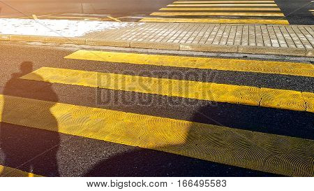 Crosswalk a marked part of a road where pedestrians.