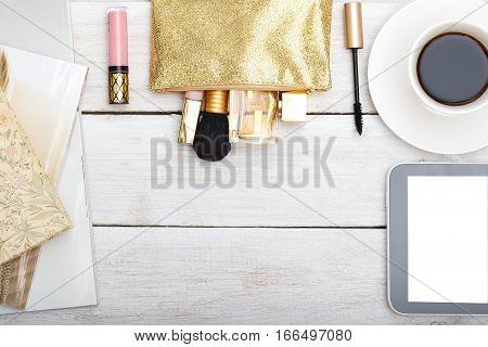 styled feminine desktop - woman fashion flat