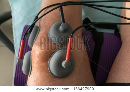 Suction Cups Applied To A Knee In Physiotherapy