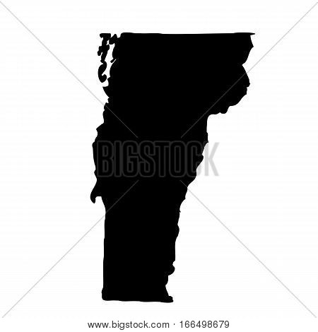 map of the U.S. state of Vermont