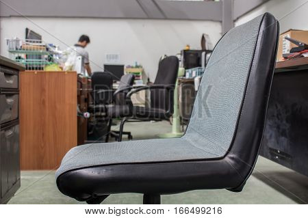 The Old Chairs in office, Chair equipment on office.