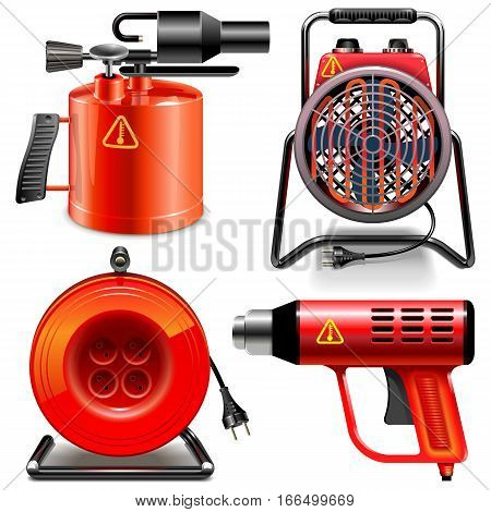 Vector Thermal Power Tools isolated on white background