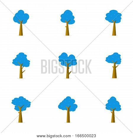 Illustration of tree vector flat stock collection