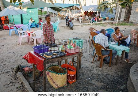 Street Stall With Fast Food, Madagascar