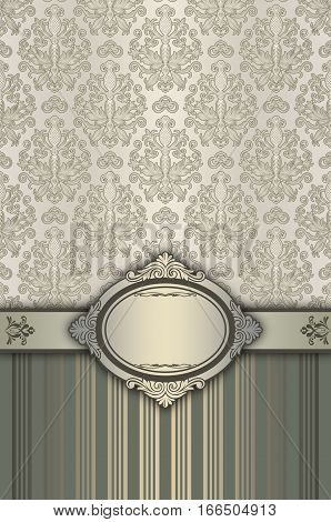 Vintage background with decorative borderelegant frame and old-fashioned patterns.
