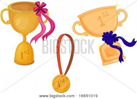 illustration of a trophy on a white background