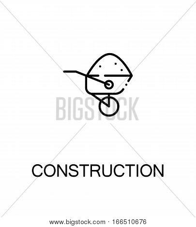 Construction icon. Single high quality outline symbol for web design or mobile app. Thin line sign for design logo. Black outline pictogram on white background