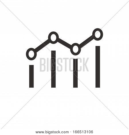 Benchmark icon. Isolated vector on white background.