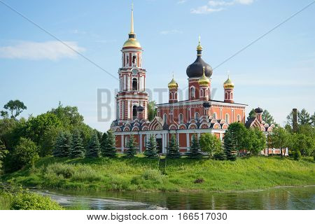 Resurrection Cathedral in the city of Staraya Russa in the June sunny day. Novgorod region, Russia