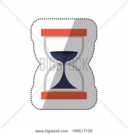 Hourglass antique clock icon vector illustraton graphic design