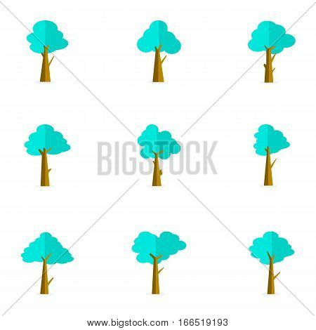 Set of tree vector collection stock illustration
