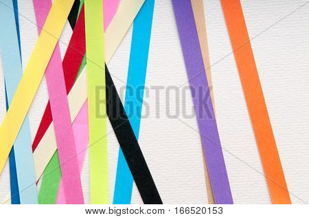 striped coloured paper for making art and crafts