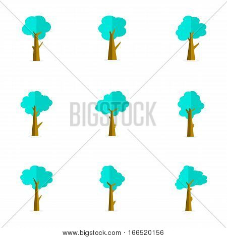 Vector illustartion of tree set collection stock