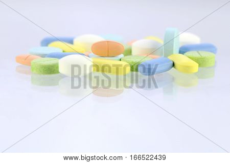 Pharmacy Background, Medicine Template In Pastel Tone.