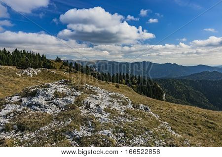 View of autumn in Big Fatra mountains Slovakia