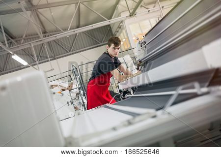Worker Working In Fabric Industry