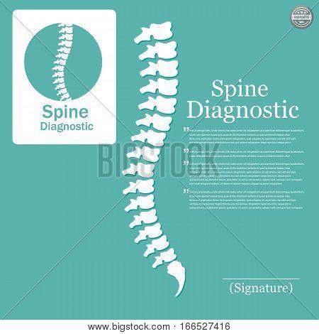 Human spine. Logo element. Hacksaw Ridge