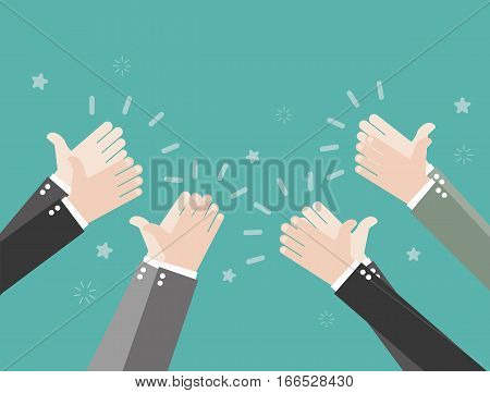 Human hands clapping.  Vector template for website