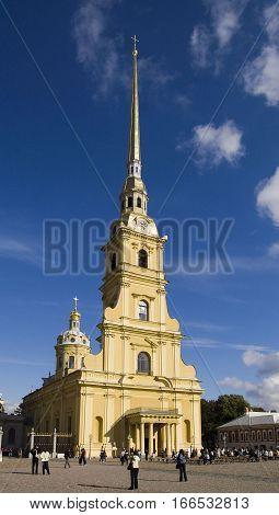 SAINT-PETERSBURG, RUSSIA - SEPTEMBER 9, 2008: St Petersburg Peter and Paul Fortress