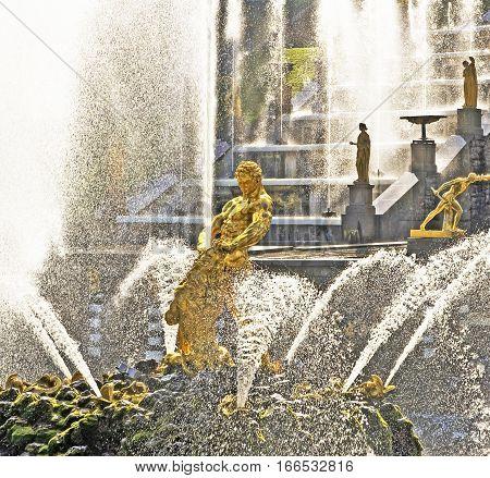 Fountains of Petergof in Saint Petersburg, Russia
