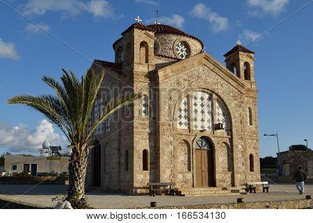 Church of St. George on the seashore in Peyia, Cyprus