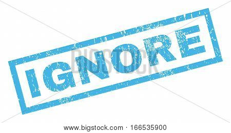 Ignore text rubber seal stamp watermark. Tag inside rectangular banner with grunge design and unclean texture. Inclined vector blue ink sticker on a white background.