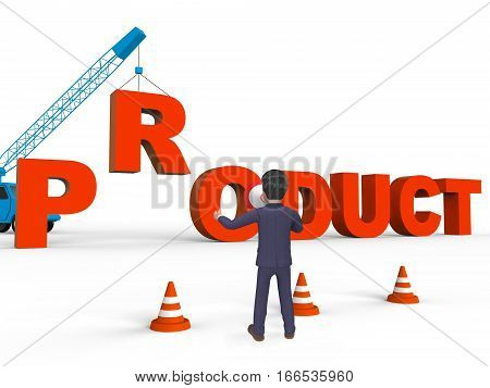 Make Product Representing Industry Manufacturing 3D Rendering