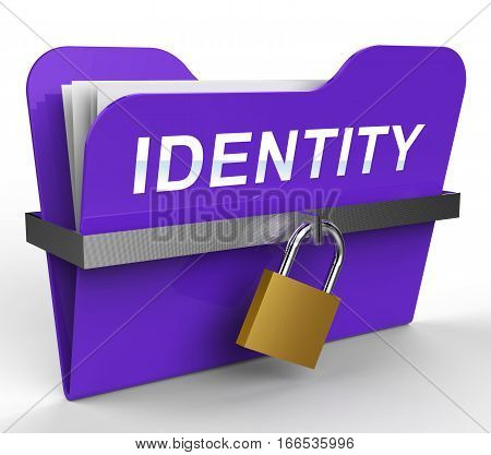 Identity File Shows Personal Folder 3D Rendering