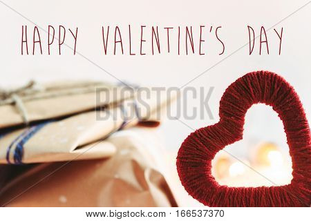 Stylish Craft Presents For Special Occasions, Happy Valentine's Day Text, Holiday Greeting Card Conc
