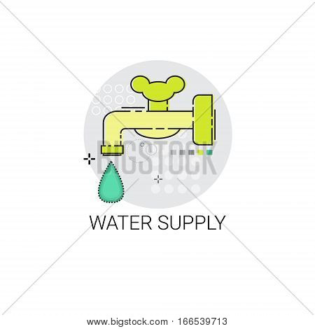 Water Supply Energy Efficiency Power Save Invention Vector Illustration