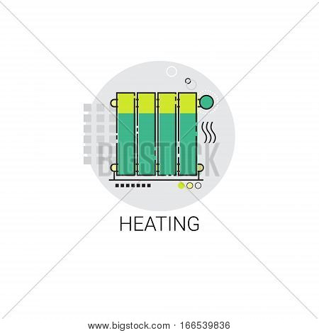 Central Heating Radiator House Warming Technology Icon Vector Illustration