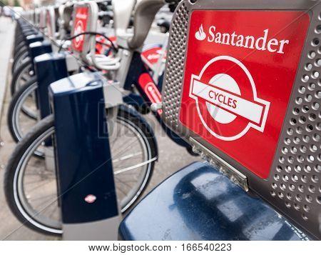Santander Cycles, London, Uk