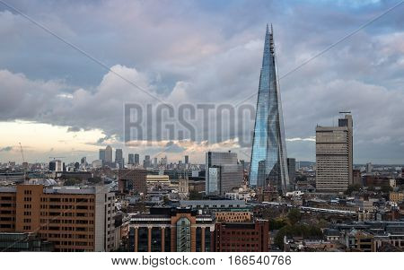 South London Skyline And The Shard Building