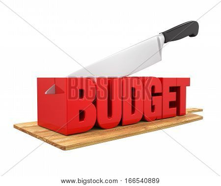 Budget Cuts Concept isolated on white background. 3D render