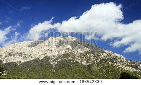 View of Tahtali Dag near the Cirali village, District of Kemer, Antalya Province