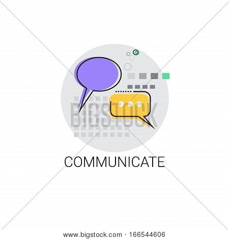 Communicate Chat Social Network Communication Message Icon Vector Illustration