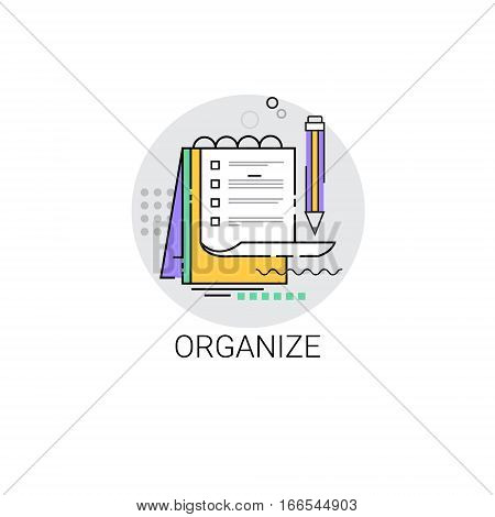 Data Organize Check List Business Icon Vector Illustration