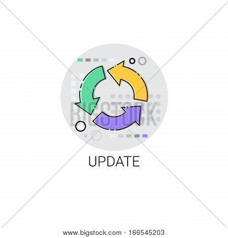 Mobile Application Update Software Icon Vector Illustration