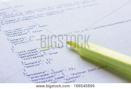 Programming Language Python On Paper