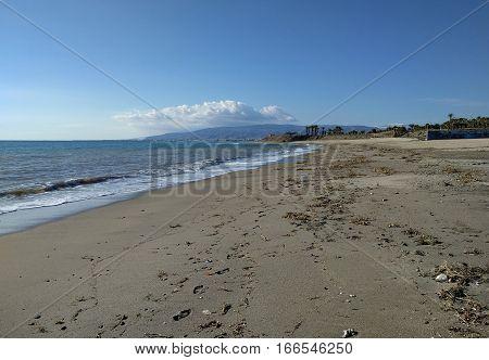 Coastline at Retamar. Province of Almeria. Spain