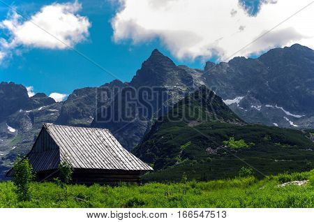 Wonderful summer view of the great mountain peaks. Tatry. Poland