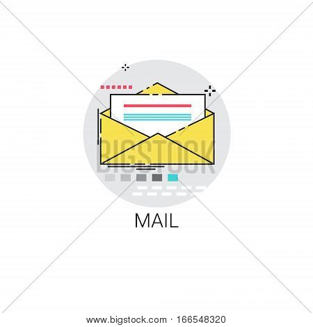 Notification Envelope Email Inbox Message Send Mail Icon Vector Illustration