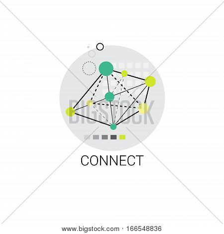 Connect Modern Internet Communication Connection Icon Vector Illustration