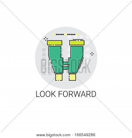 Look Forward Business Forecast Icon Vector Illustration