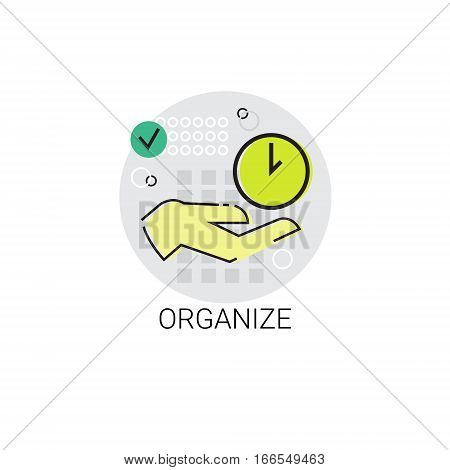 Organize Time Business Management Icon Vector Illustration