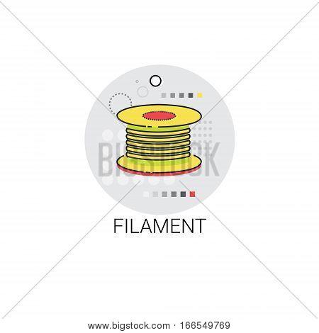Filament Tailor Fiber Textile Icon Vector Illustration