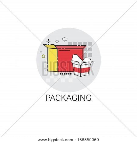 Packaging Materials Industry Production Icon Vector Illustration