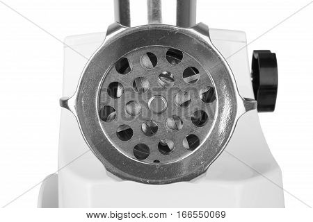 meat grinder isolated on a white background